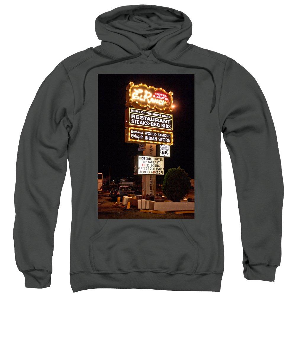 El Rancho Hotel Sweatshirt featuring the photograph El Rancho Hotel, Nm by Robert J Caputo