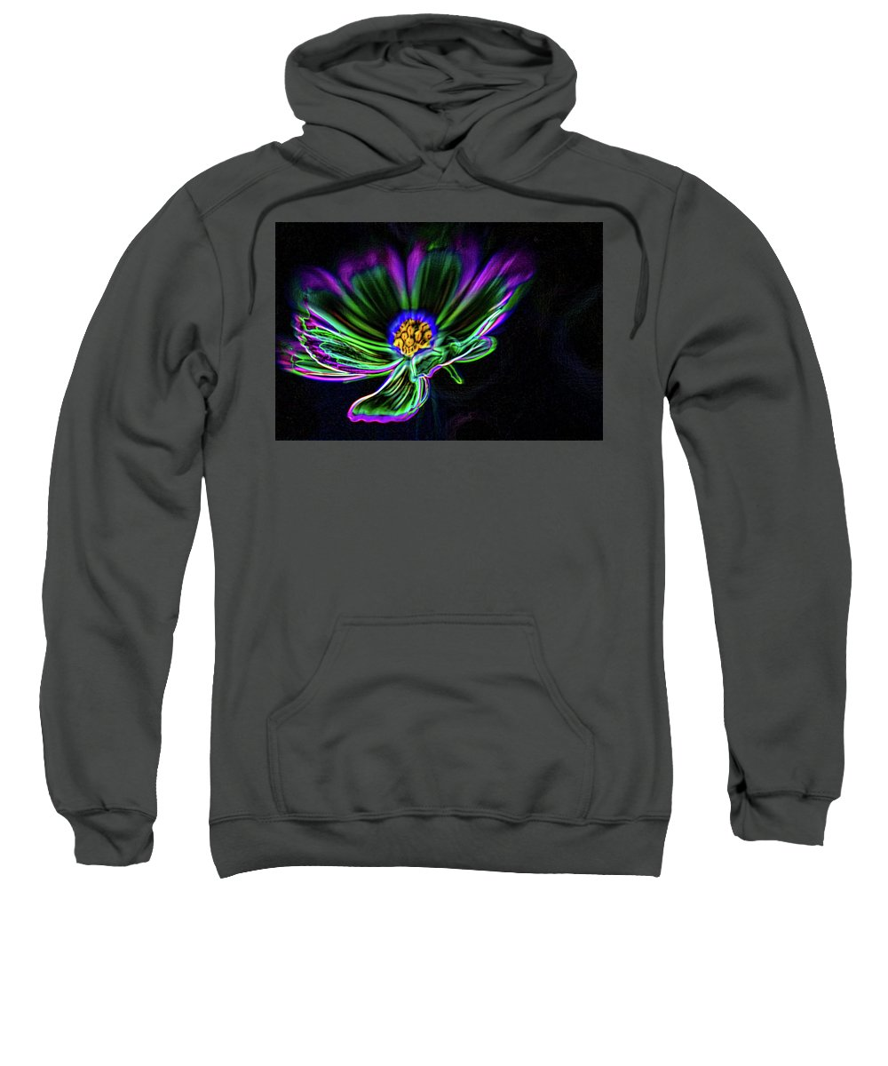 Daisy Sweatshirt featuring the digital art Electric Daisy by Scott Campbell