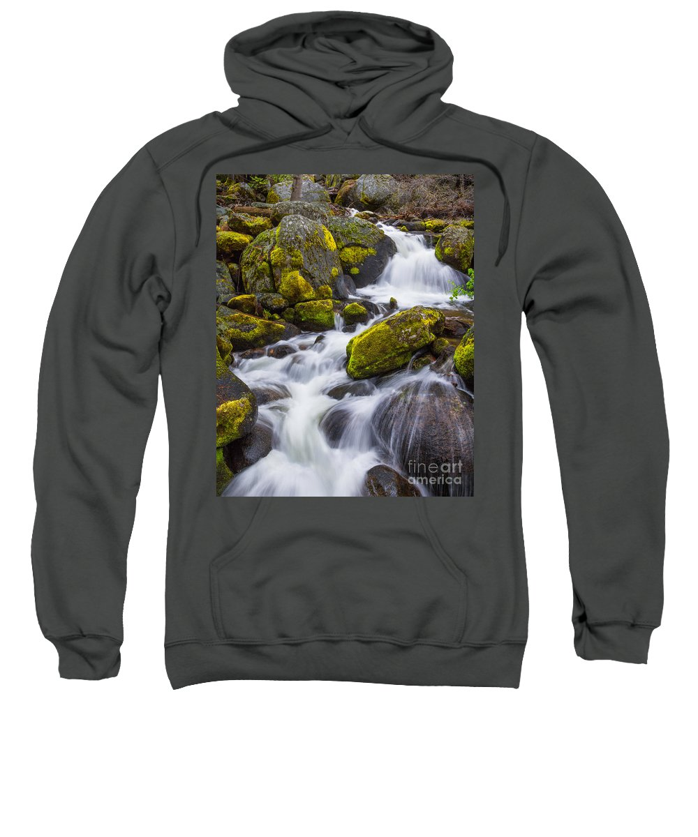 Yosemite Sweatshirt featuring the photograph Electric Green by Anthony Michael Bonafede