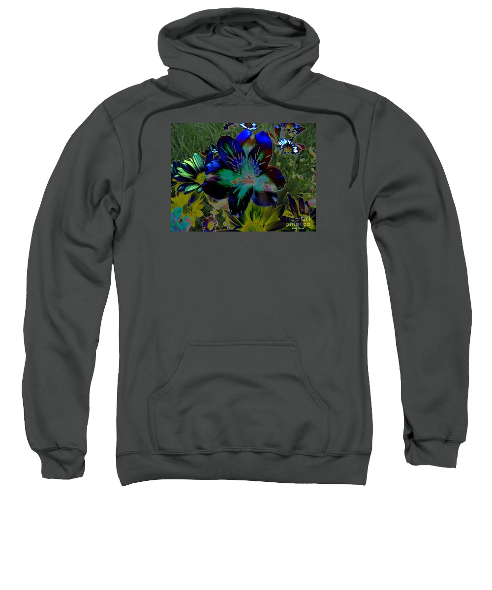 Art For The Wall...patzer Photography Sweatshirt featuring the photograph Electric Lily by Greg Patzer