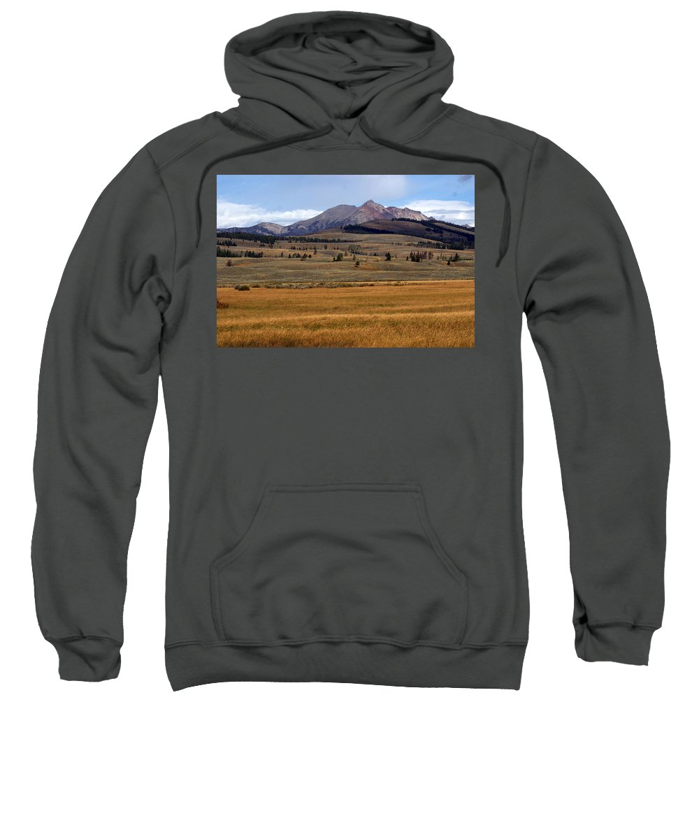 Yellowstone National Park Sweatshirt featuring the photograph Electric Peak 2 by Marty Koch