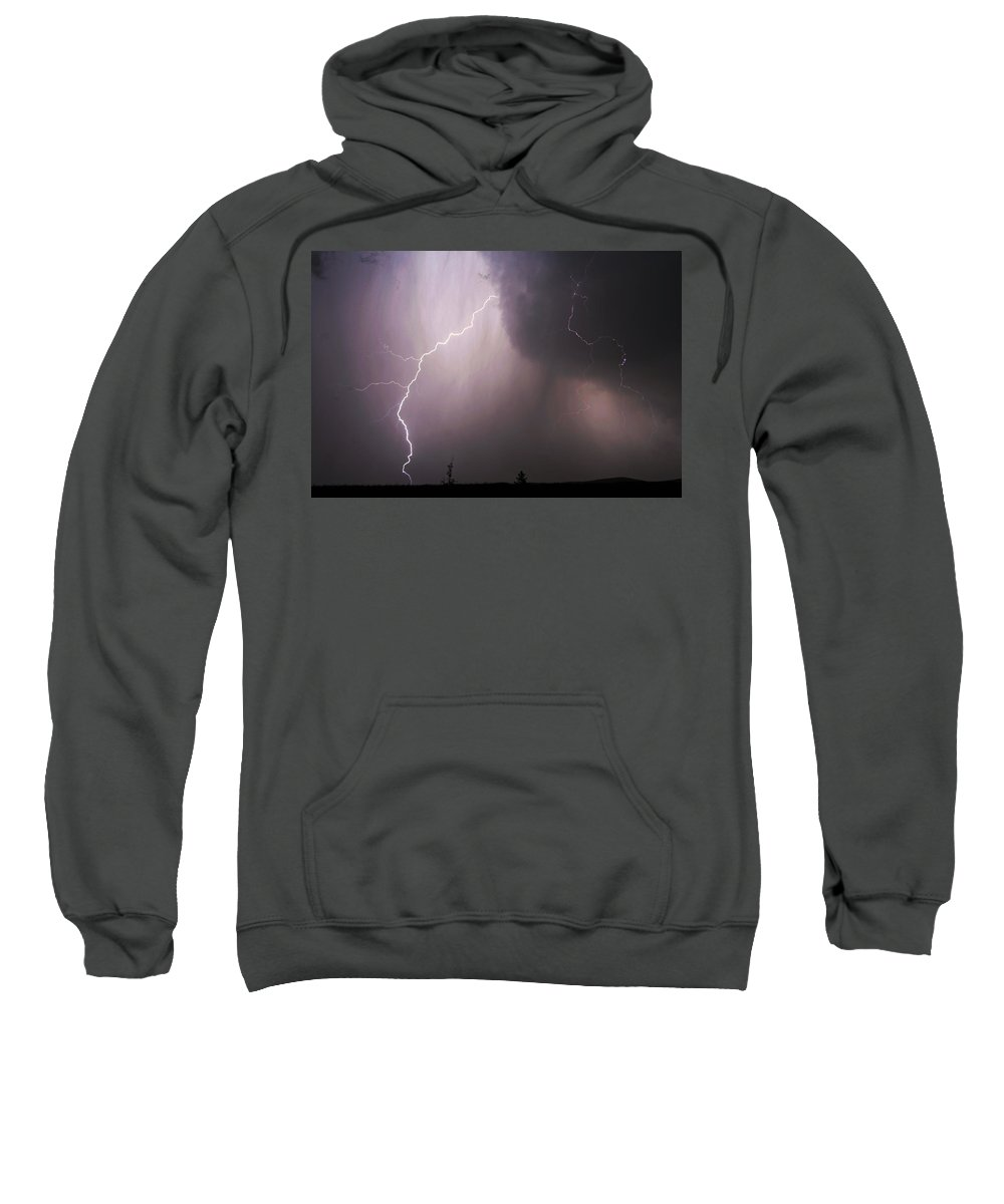 Lightning Sweatshirt featuring the photograph Electrified by Ben Zell