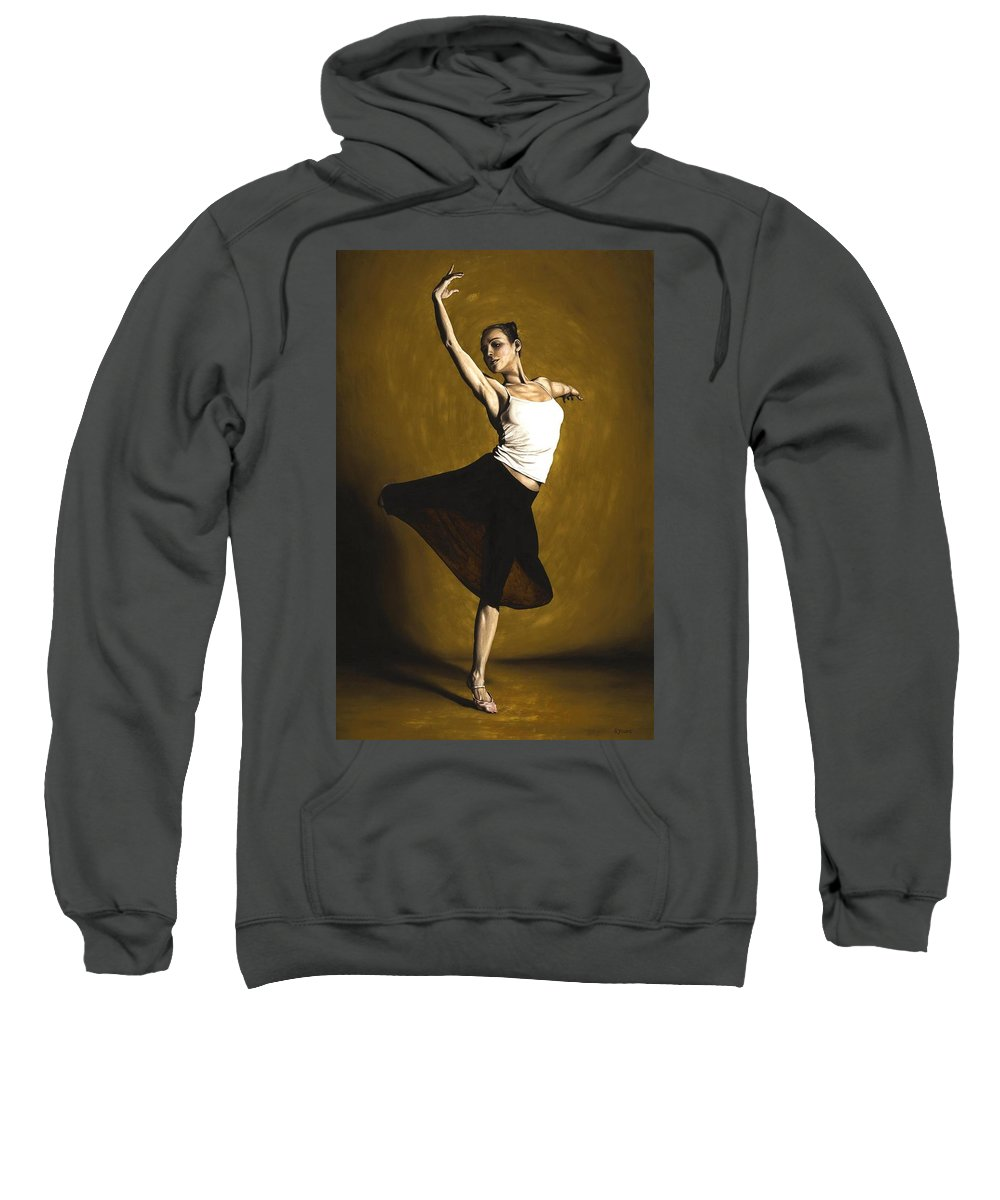 Elegant Sweatshirt featuring the painting Elegant Dancer by Richard Young