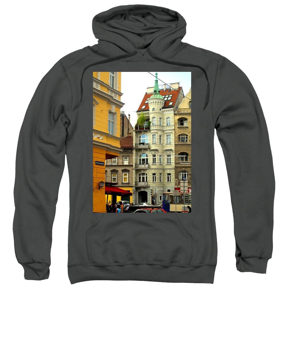 Vienna Sweatshirt featuring the photograph Elegant Vienna Apartment Building by Ian MacDonald