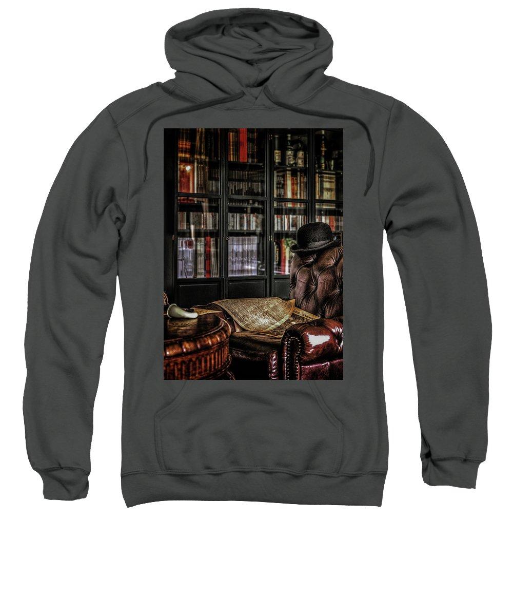 221b Sweatshirt featuring the photograph Elementary, My Dear Watson by Hans Zimmer
