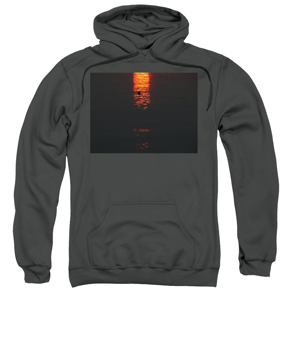 Sunset Sweatshirt featuring the photograph Elements Colide by Kelly Mezzapelle