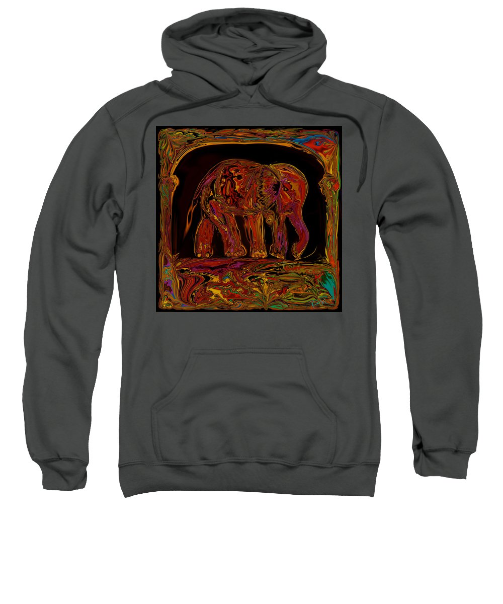 Animal Sweatshirt featuring the digital art Elephant by Rabi Khan