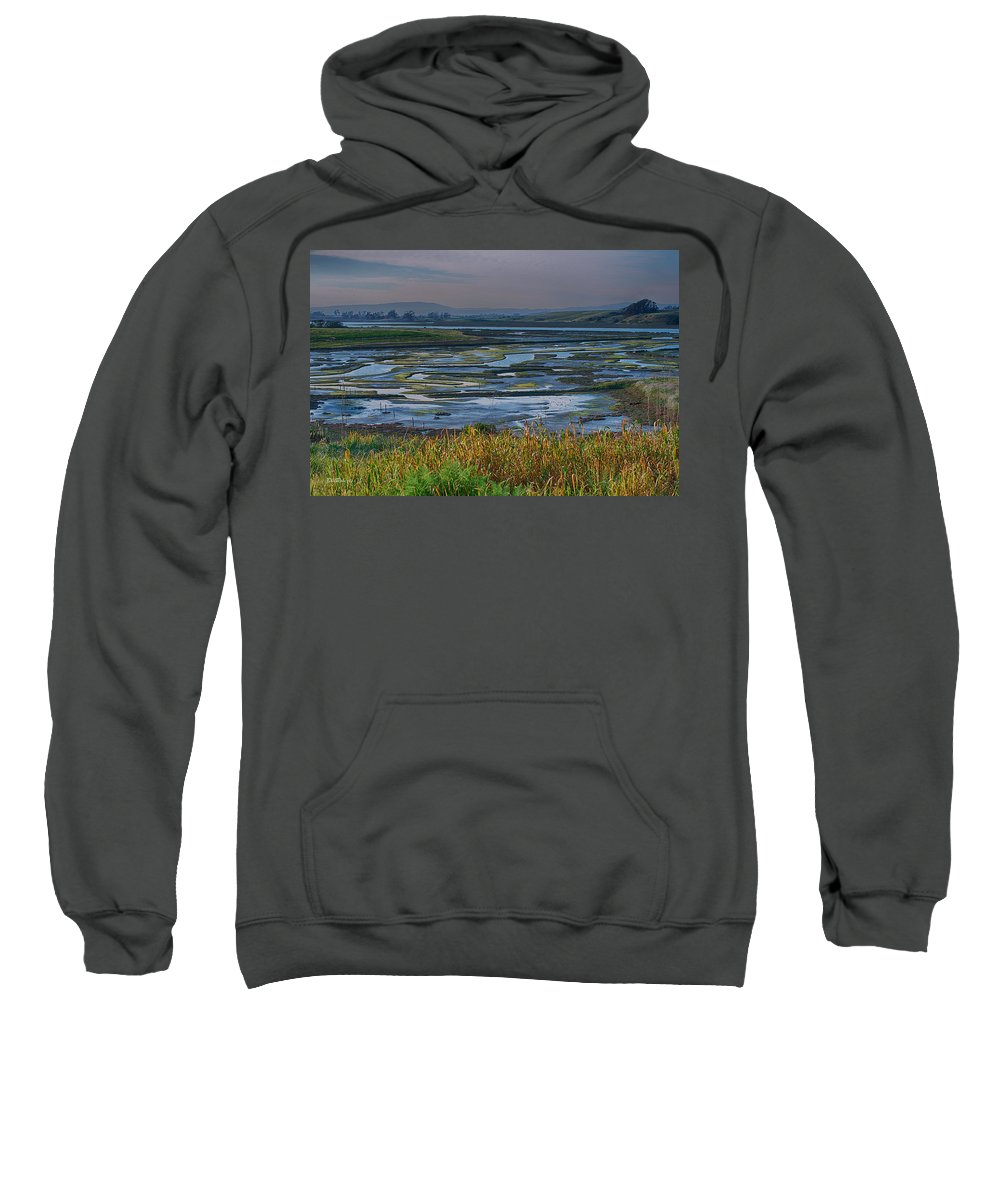 Central California Coast Sweatshirt featuring the photograph Elkhorn Slough by Bill Roberts