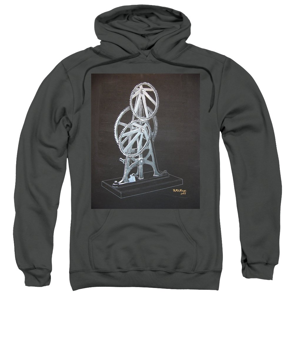 Elliptical Gears Sweatshirt featuring the painting Elliptical Gears by Richard Le Page