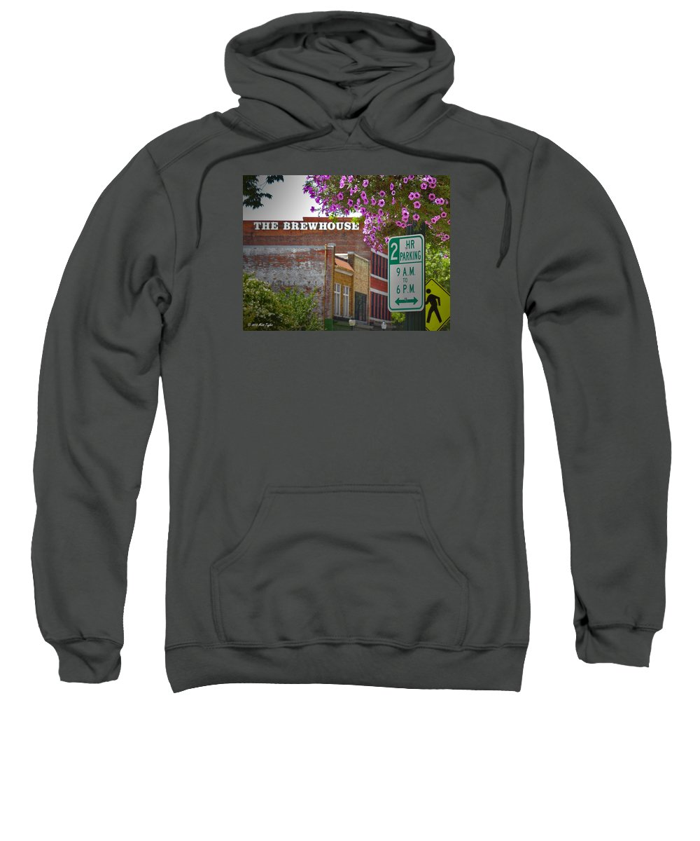 Outdoors Sweatshirt featuring the photograph Elm Street Downtown Greensboro by Matt Taylor