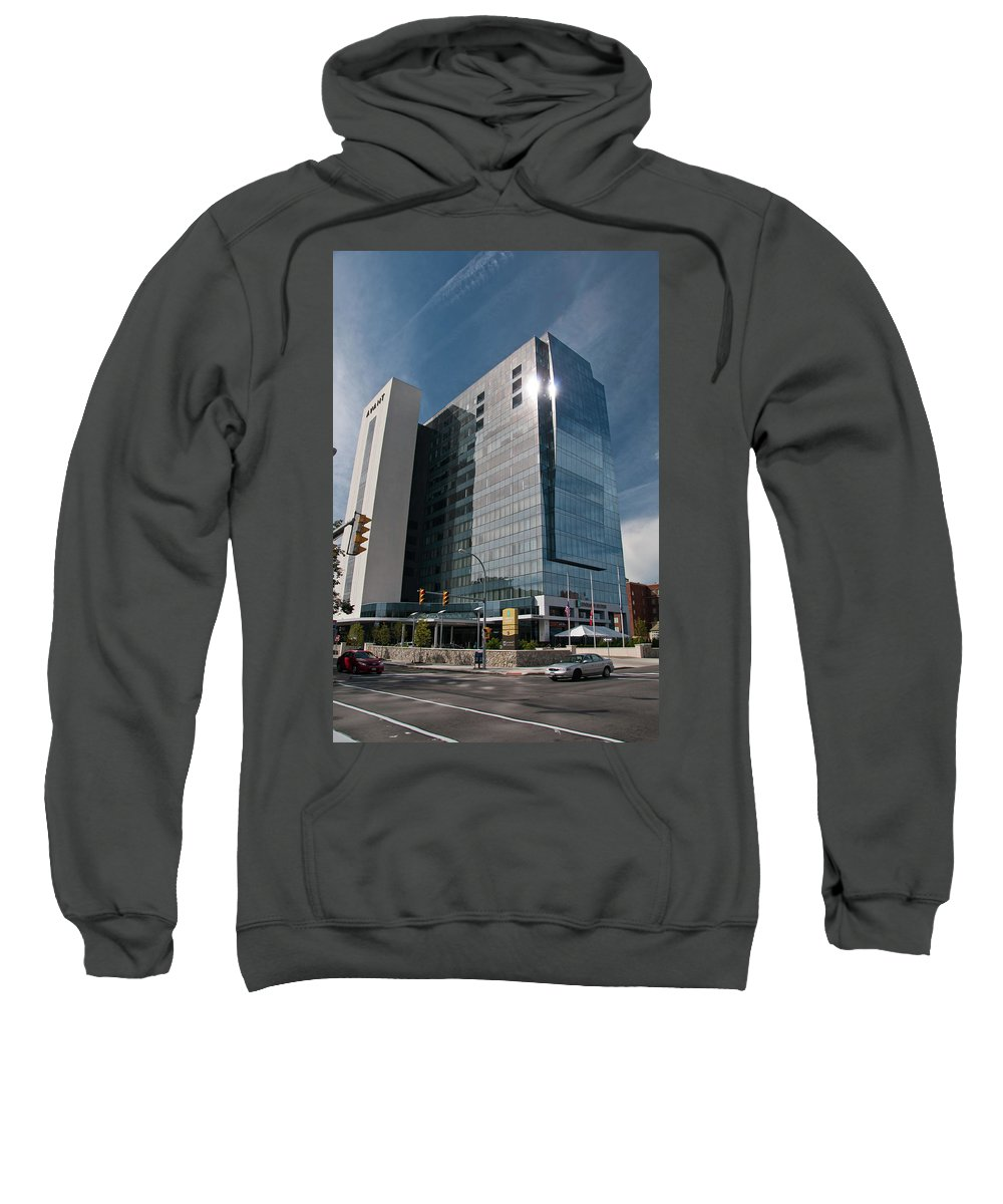 Architecture Sweatshirt featuring the photograph Embassy Suites 2916 by Guy Whiteley