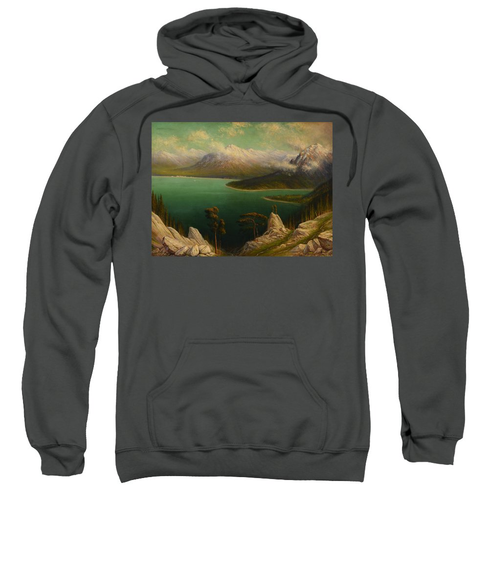 James E. Stuart Sweatshirt featuring the painting Emerald Bay Lake Tahoe by Celestial Images