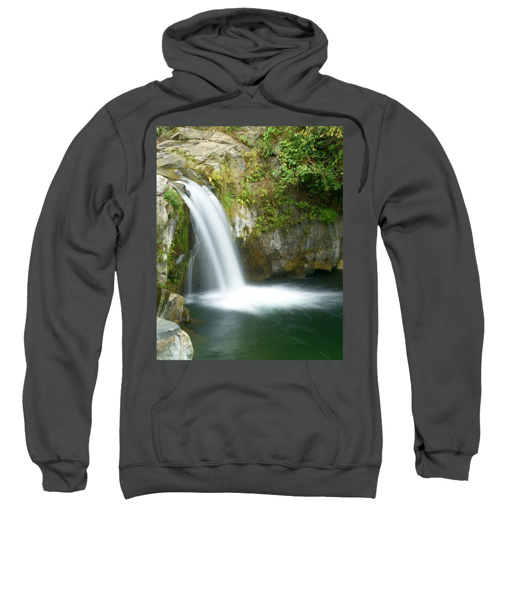 Waterfall Sweatshirt featuring the photograph Emerald Falls by Marty Koch