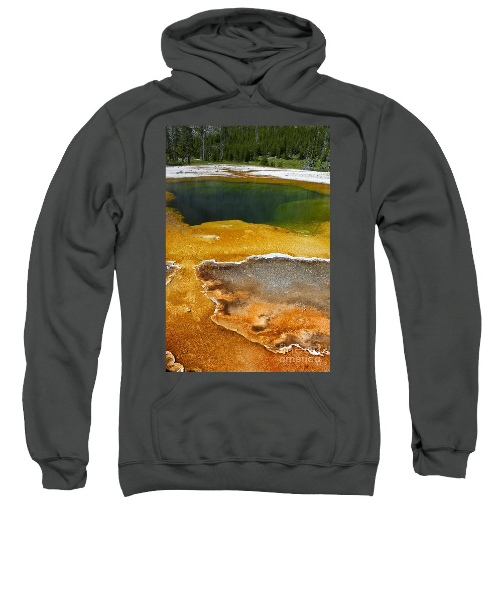Emerald Pool Sweatshirt featuring the photograph Emerald Pool 2 by Teresa Zieba