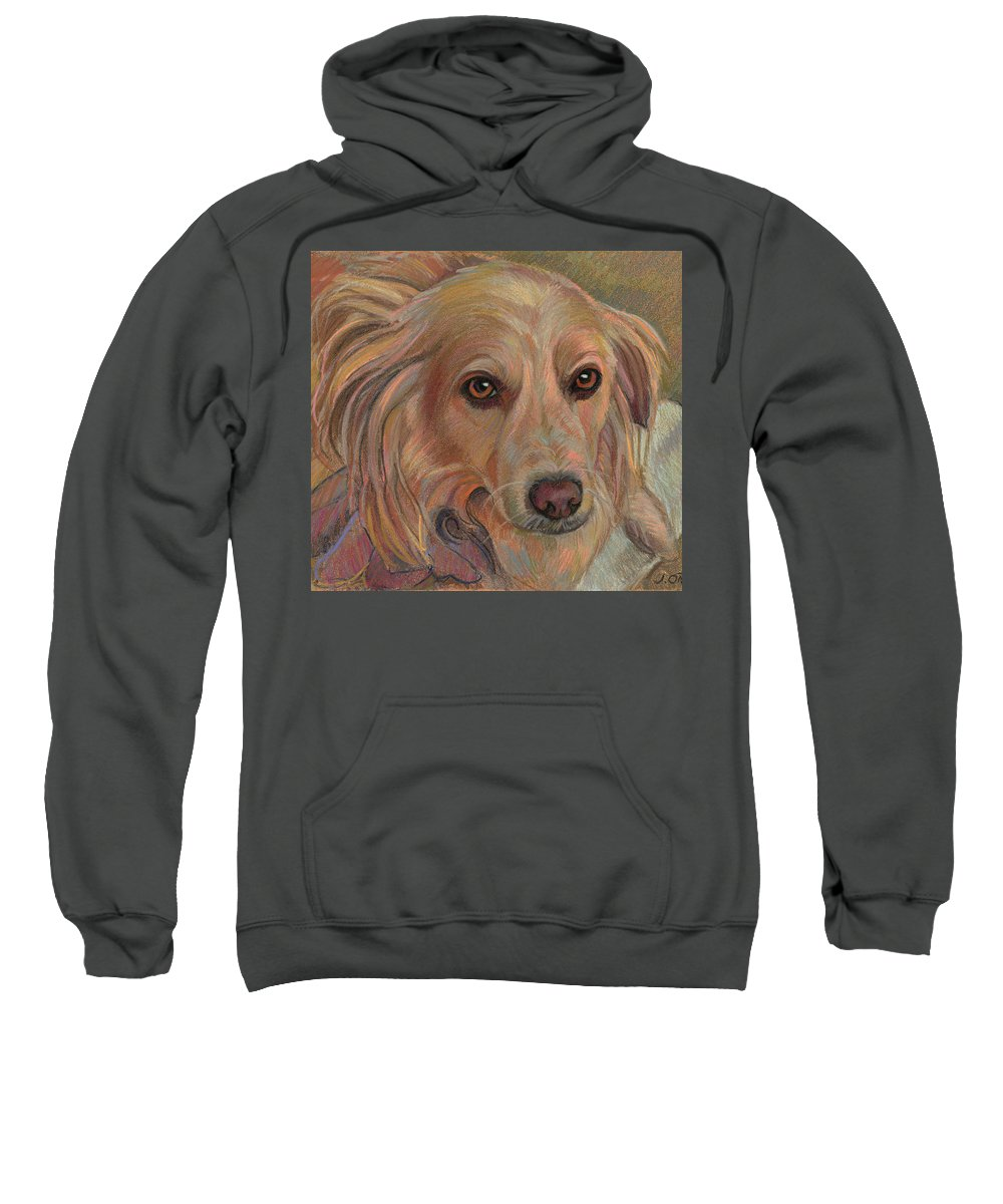 Dog Art Sweatshirt featuring the painting Emily by Jane Oriel