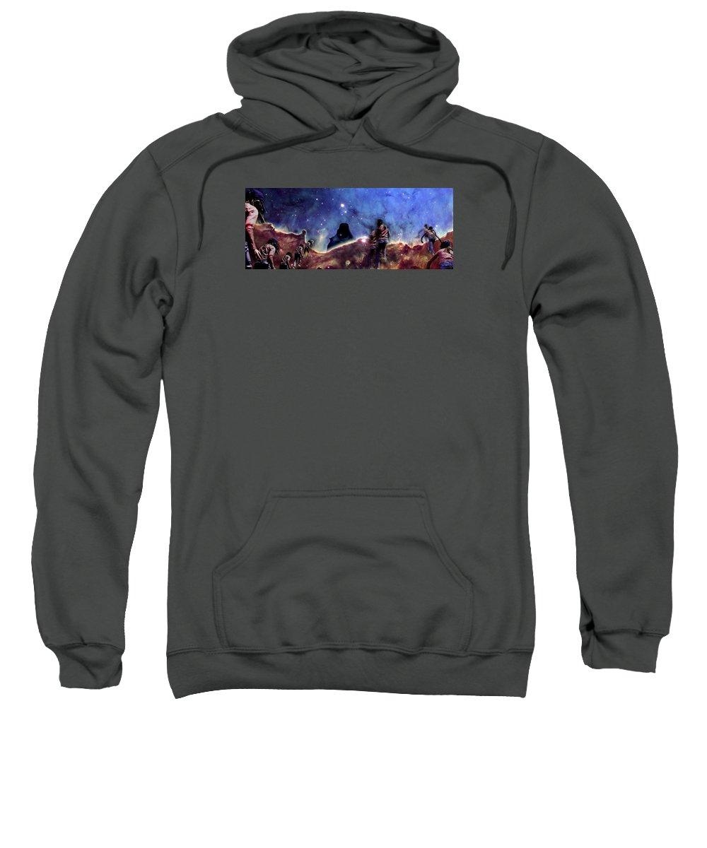 Nebula Sweatshirt featuring the photograph Emily's Ridge Walk by Dave Martsolf