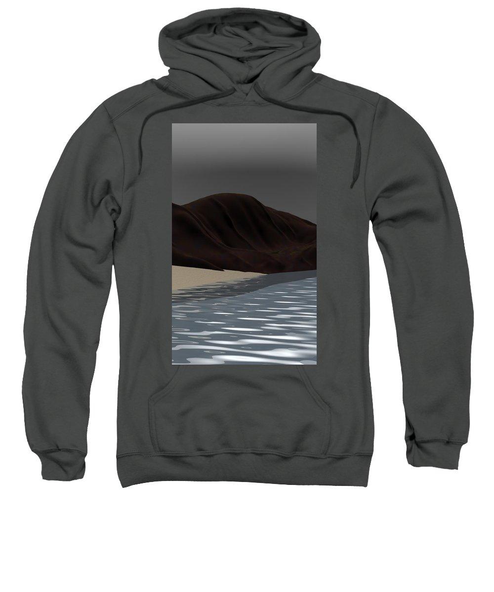 Abstract Sweatshirt featuring the digital art Emotion by David Lane