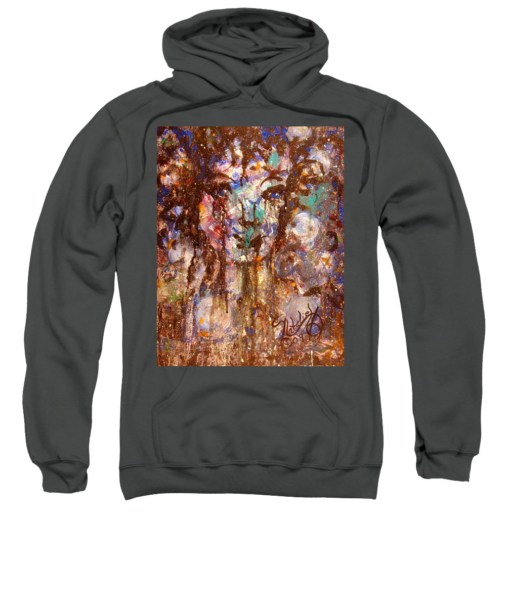 Expressionism Sweatshirt featuring the painting Emotional Encounter by Natalie Holland