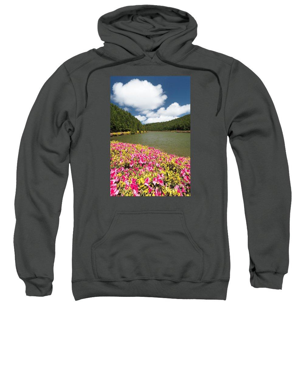 Portugal Sweatshirt featuring the photograph Empadadas Lakes II by Gaspar Avila