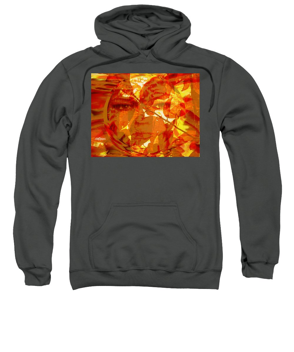 Oriental Sweatshirt featuring the digital art Empress Of The Sun by Seth Weaver