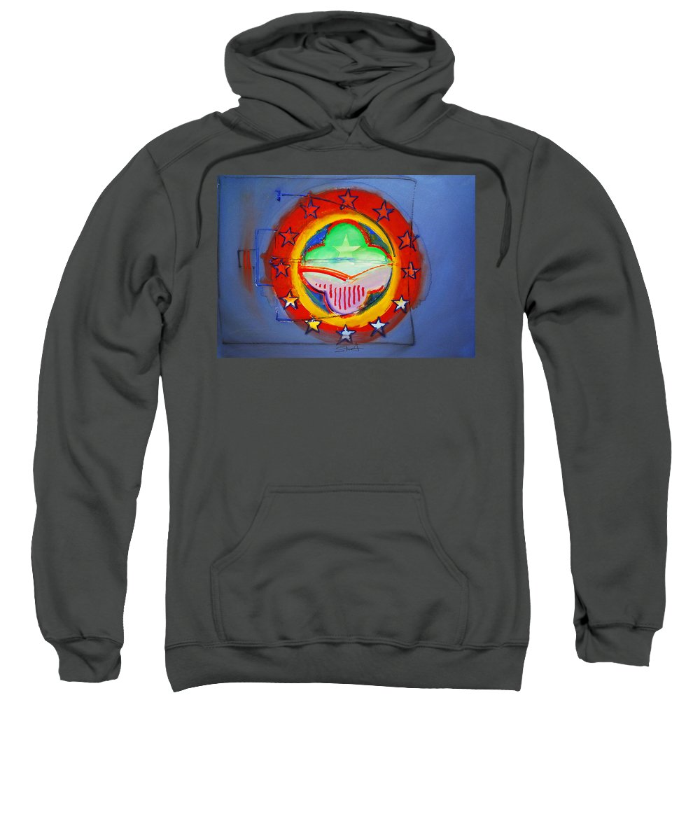 Symbol Sweatshirt featuring the painting EMU by Charles Stuart