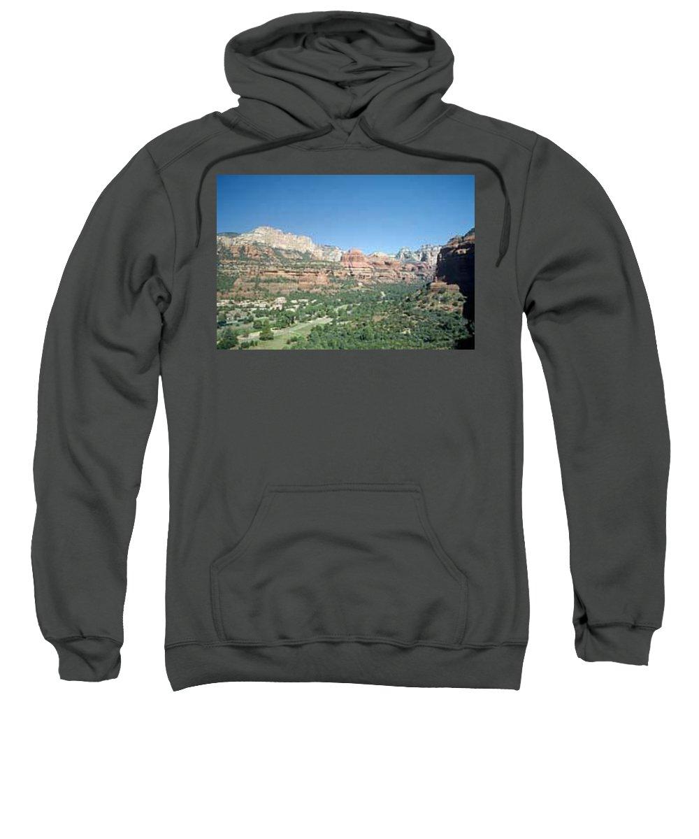 Sedona Sweatshirt featuring the photograph Enchantment Resort Sedona Arizona by Gary Wonning