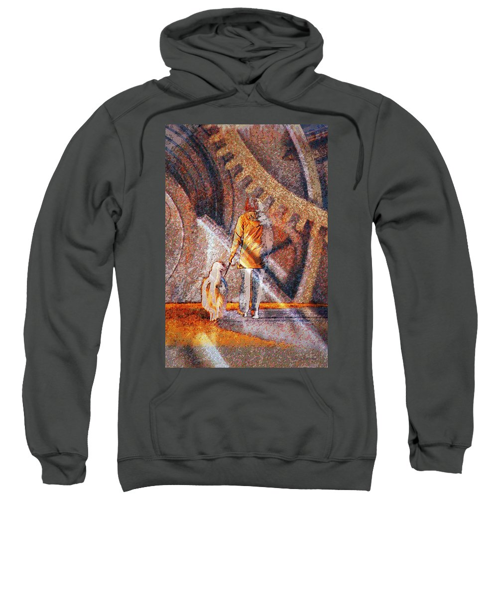 Dog Sweatshirt featuring the photograph Encounter With Destiny... by Arthur Miller
