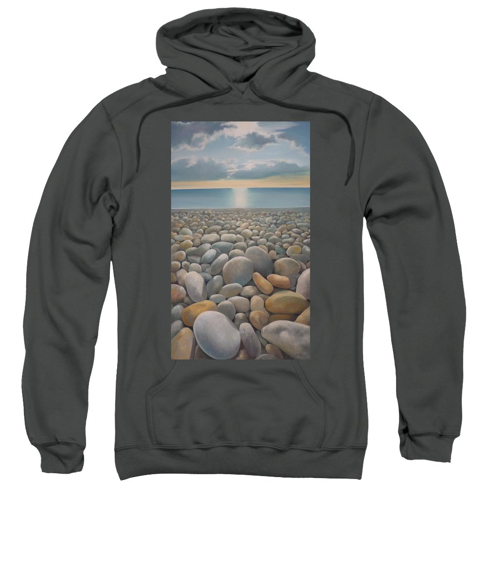 Sweatshirt featuring the painting End Of The Day by Caroline Philp