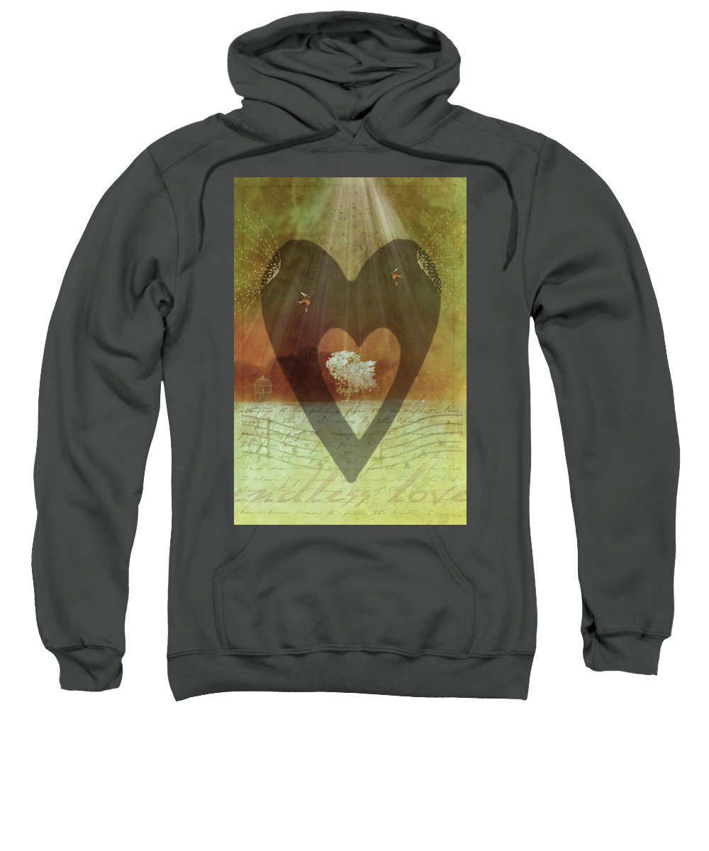 Surrealism Sweatshirt featuring the digital art Endless Love by Holly Kempe