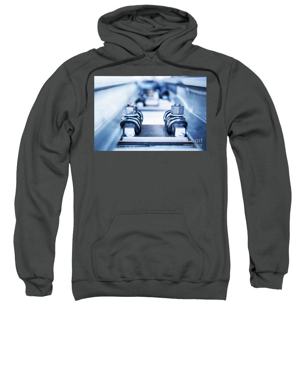 Engineering Sweatshirt featuring the photograph Engineering Metal Parts by Michal Bednarek
