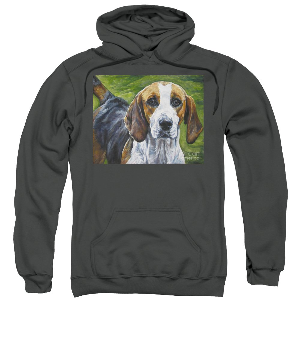 English Foxhound Sweatshirt featuring the painting English Foxhound by Lee Ann Shepard