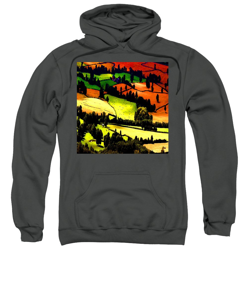 Summer Fields Sweatshirt featuring the photograph English Summer Fields by P Donovan