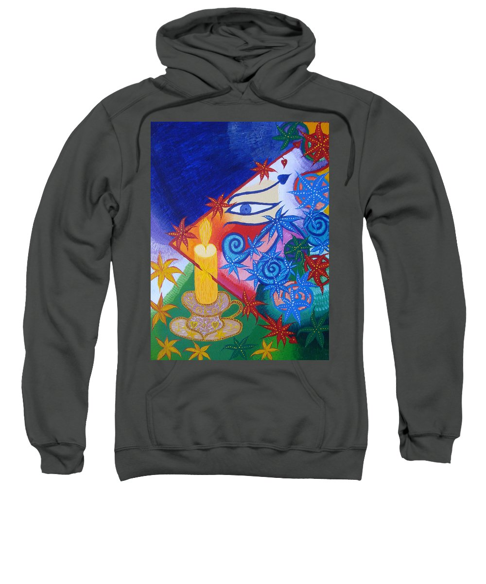 Abstract Sweatshirt featuring the painting Enlightenment by Joanna Pilatowicz