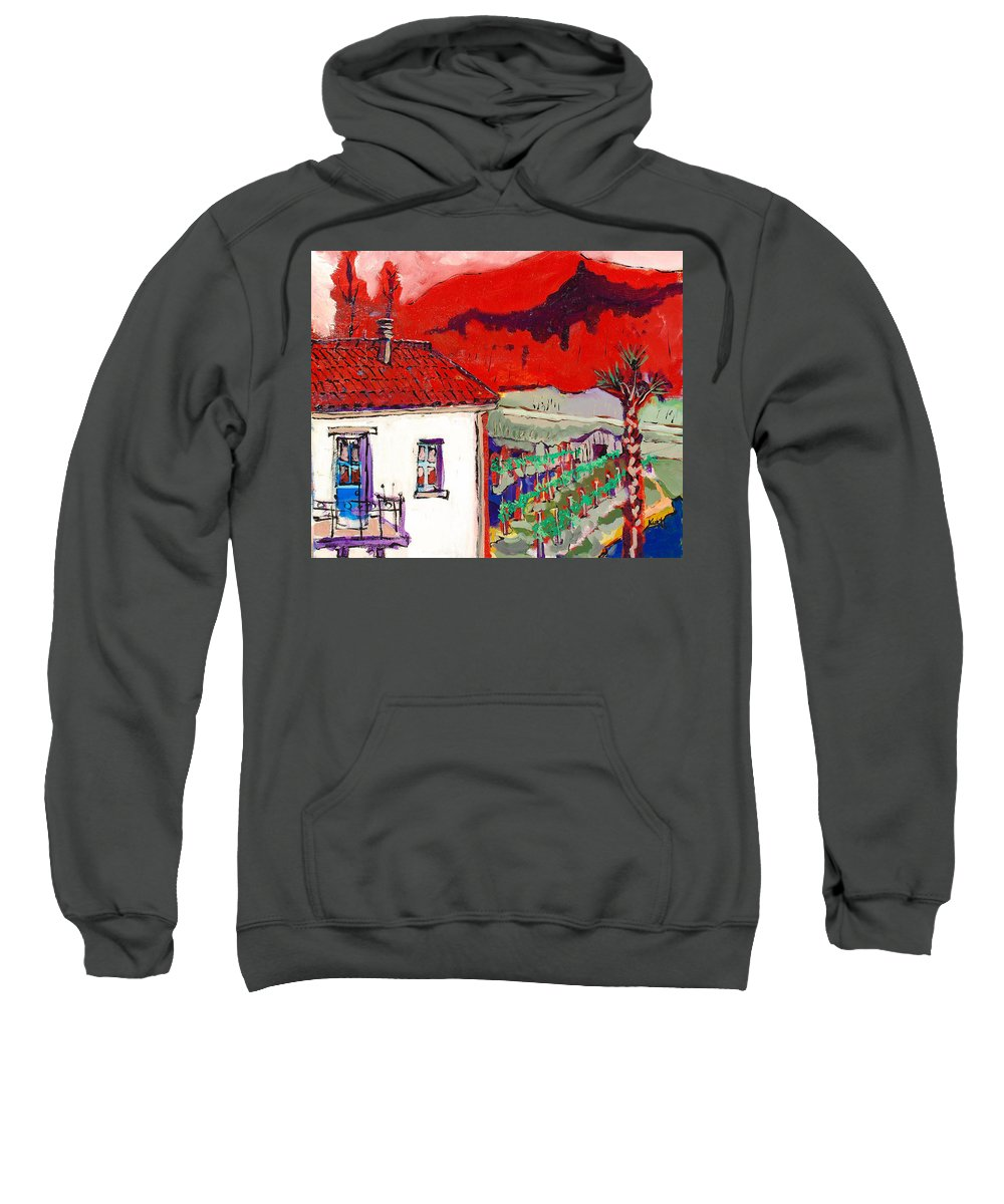 Sweatshirt featuring the painting Enrico's View by Kurt Hausmann