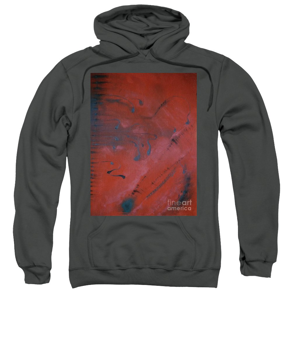 Entelechy Abstract Sweatshirt featuring the painting Entelechy With Music by Karen Henninger
