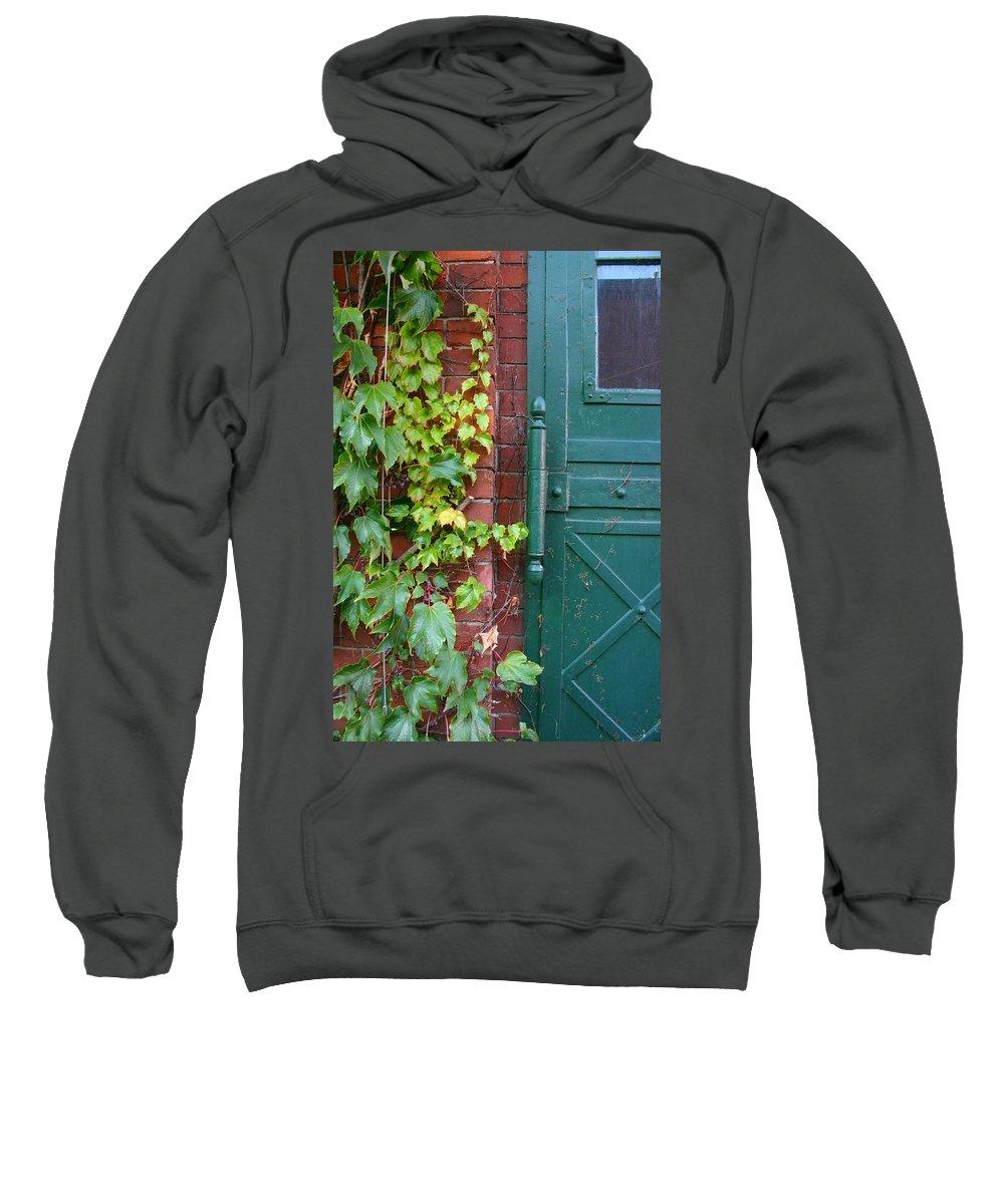 Vines Sweatshirt featuring the photograph Enter Vine Door by Minaz Jantz