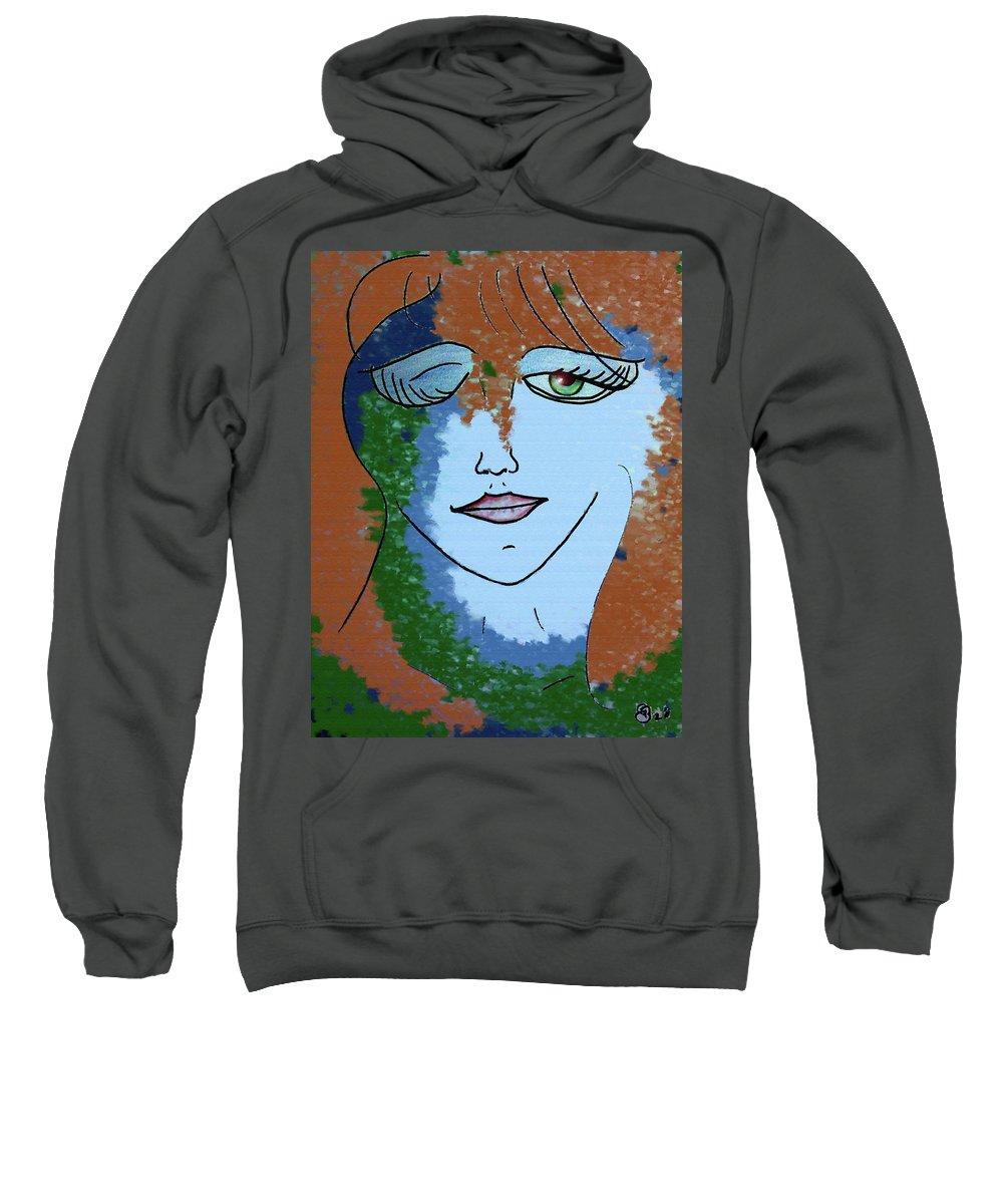 Woman Sweatshirt featuring the digital art Envy by Donna Blackhall