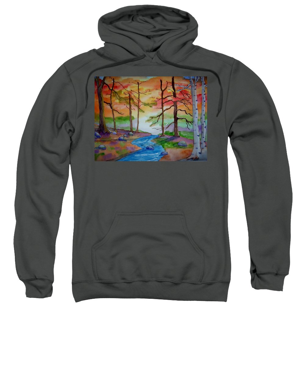 Woodland Sweatshirt featuring the painting Epiphany by B Kathleen Fannin