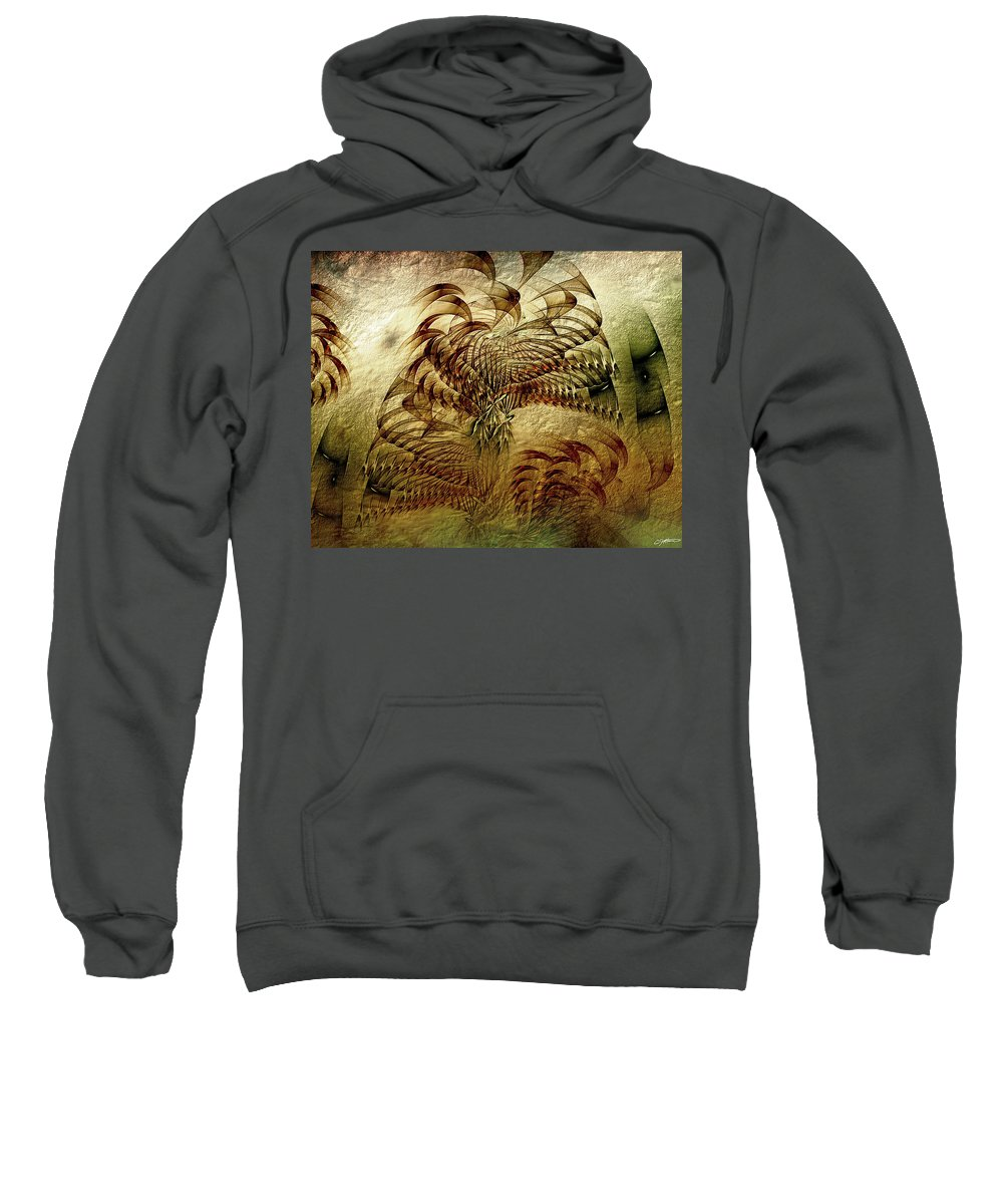 Abstract Sweatshirt featuring the digital art Epoch by Casey Kotas
