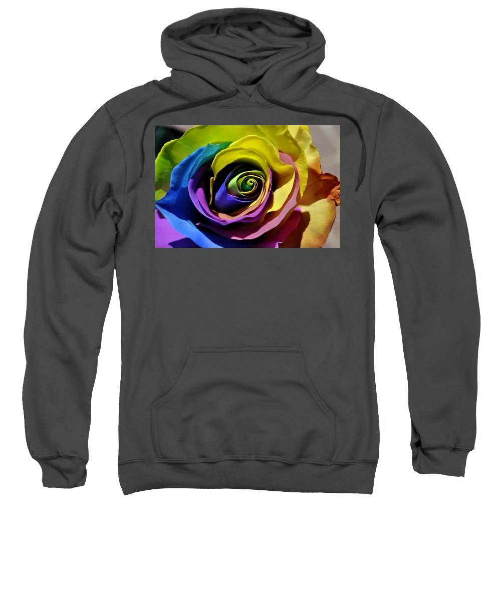 Rose Sweatshirt featuring the digital art Equality Rose by Jim Brage