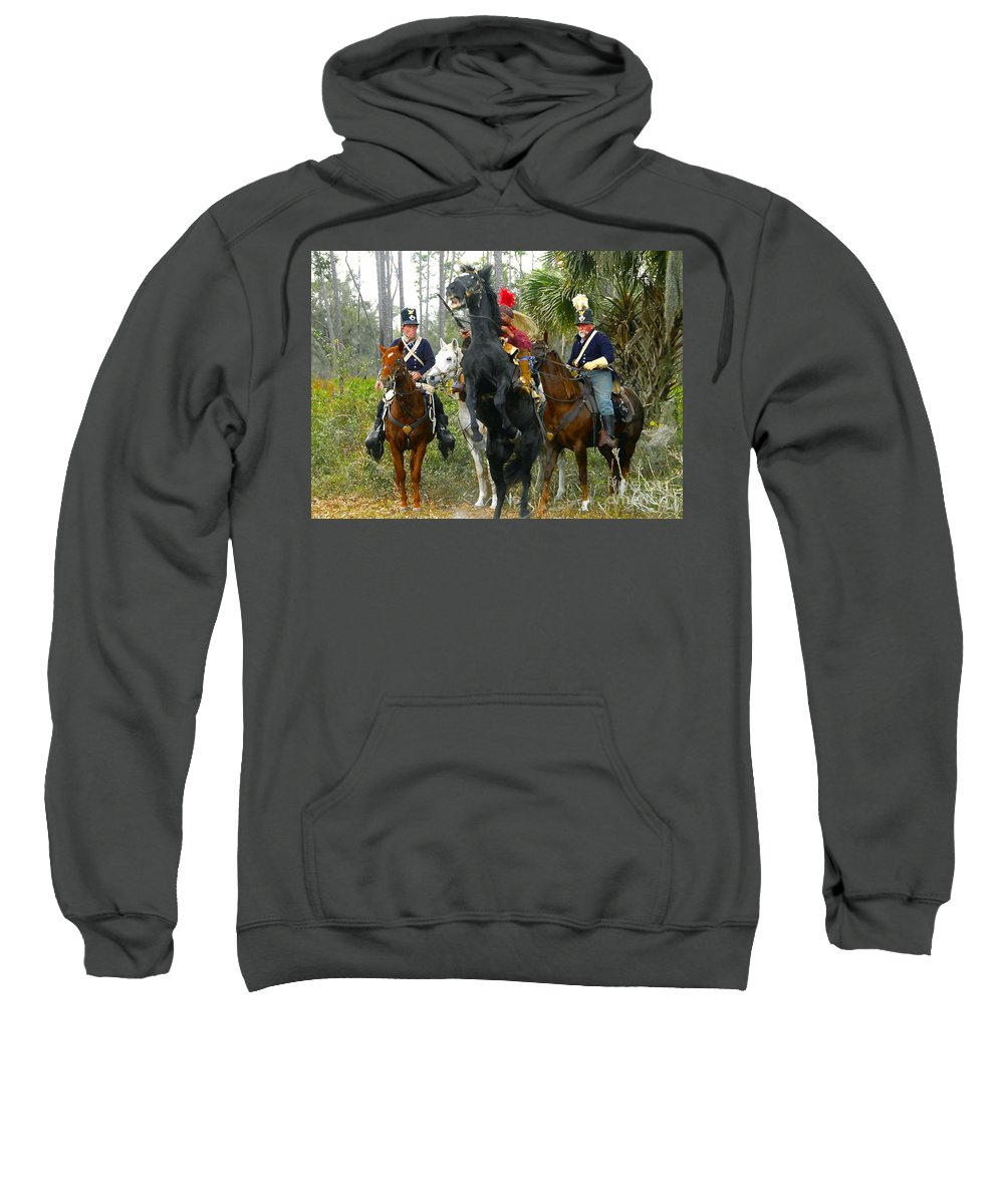 Seminole Indians Sweatshirt featuring the photograph Escape Of Billy Bowlegs by David Lee Thompson