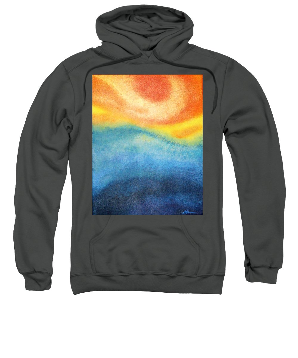 Escape Sweatshirt featuring the painting Escape by Todd Hoover
