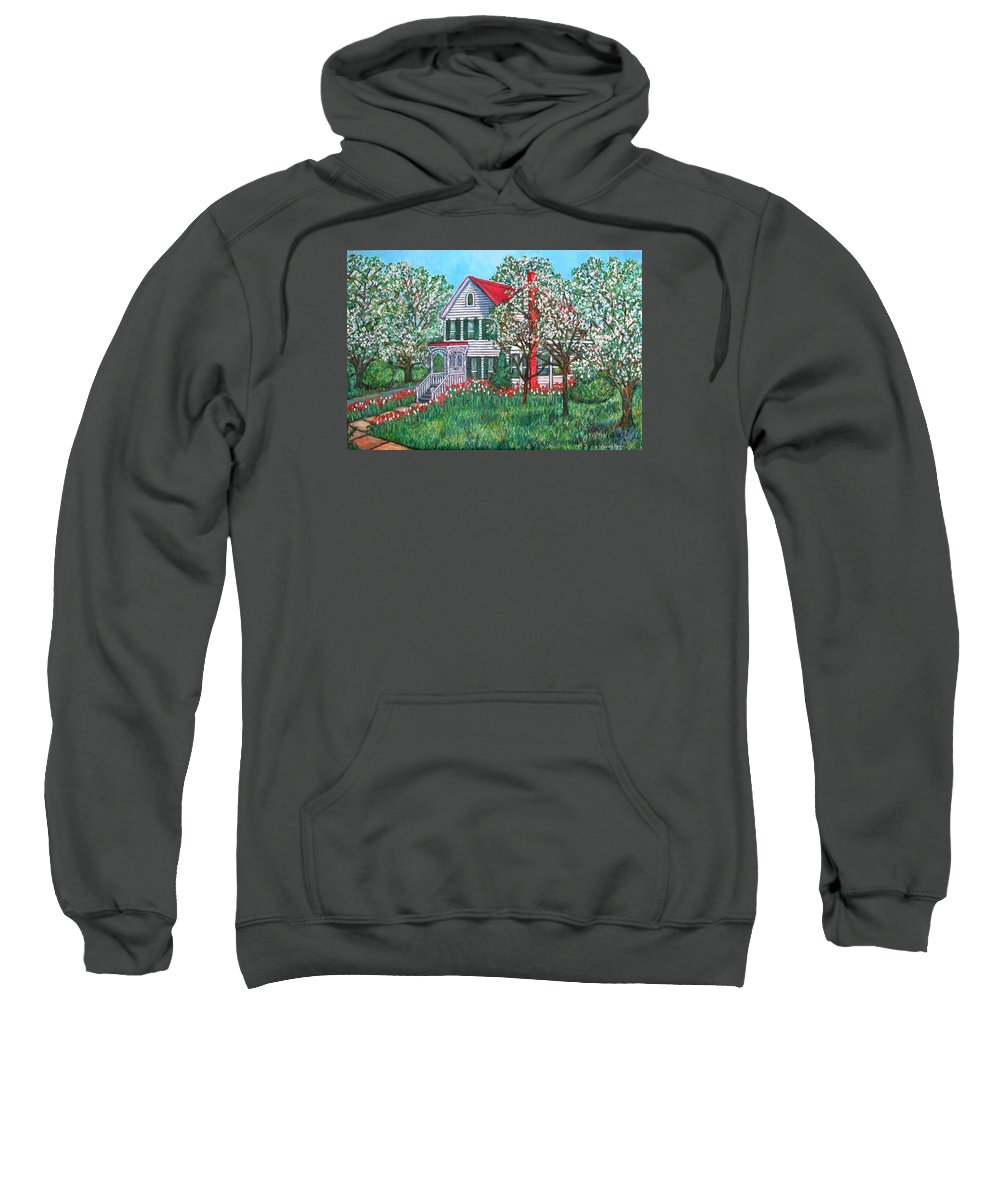 Home Sweatshirt featuring the painting Esther's Home by Kendall Kessler