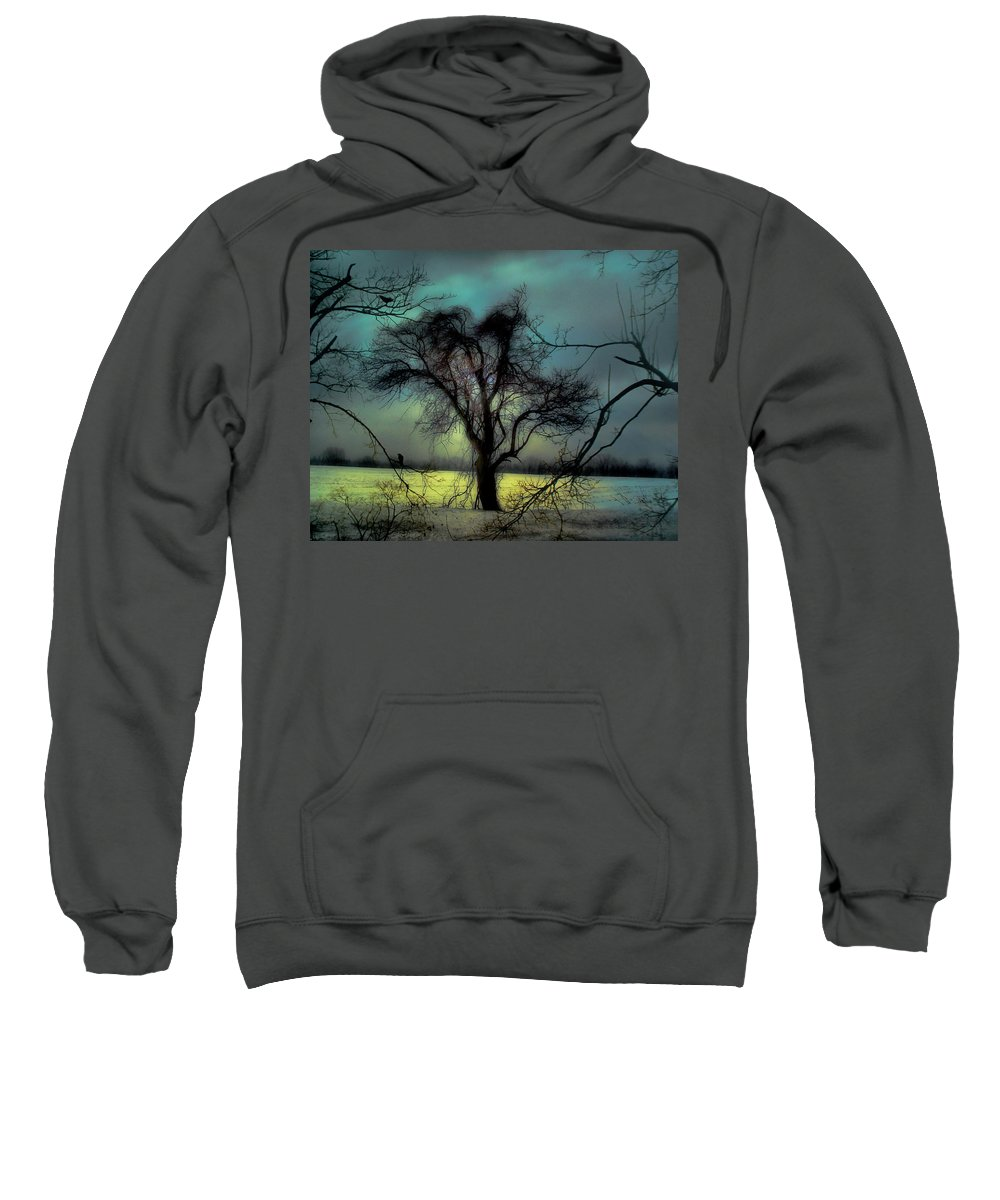 Blue Sweatshirt featuring the photograph Ethereal Trees by Gothicrow Images