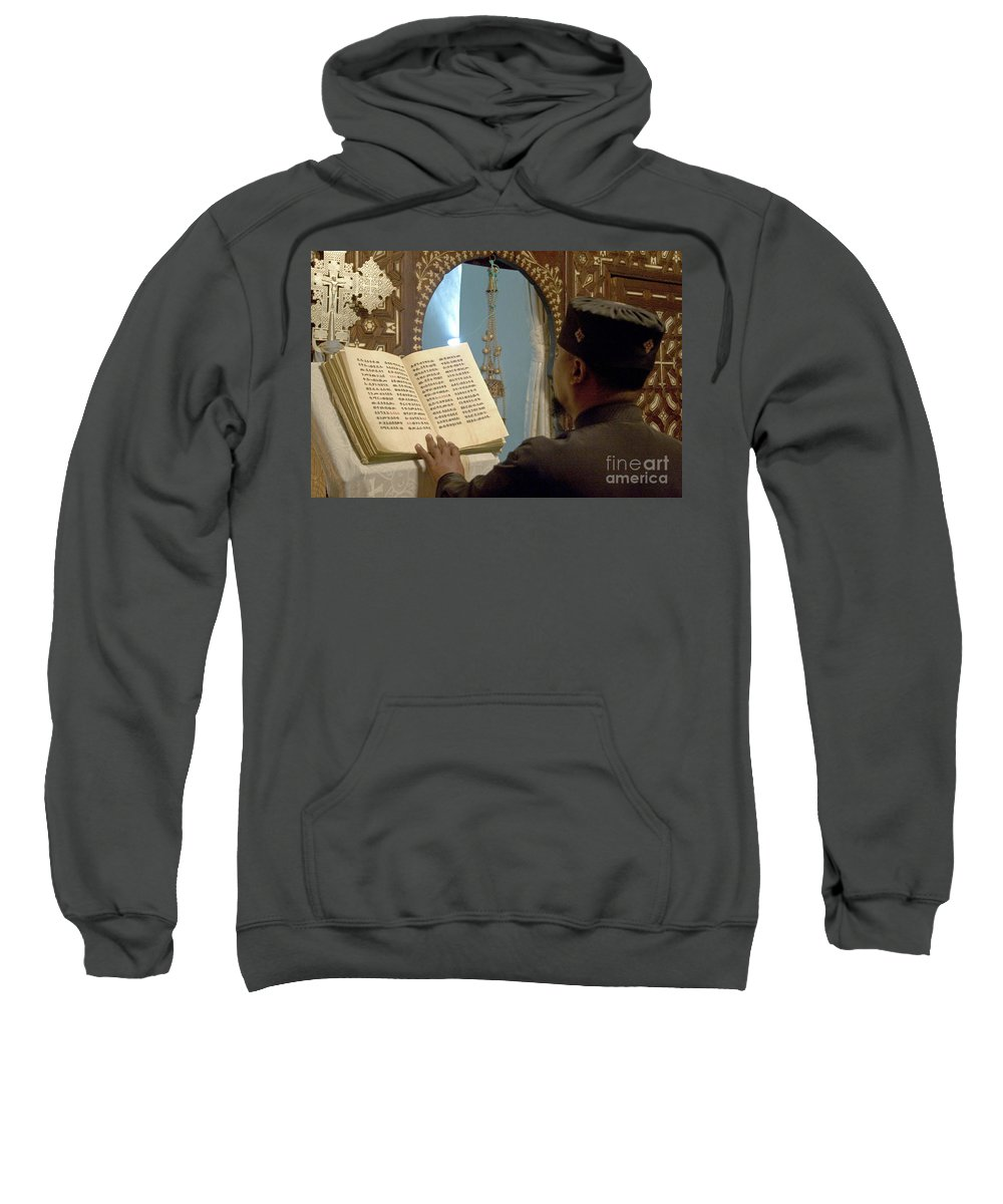 Christian Sweatshirt featuring the photograph Ethiopian Priest by Danny Yanai