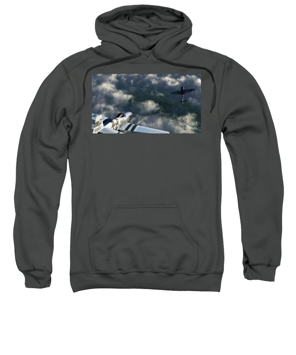 Warbirds Sweatshirt featuring the digital art Evade by Richard Rizzo