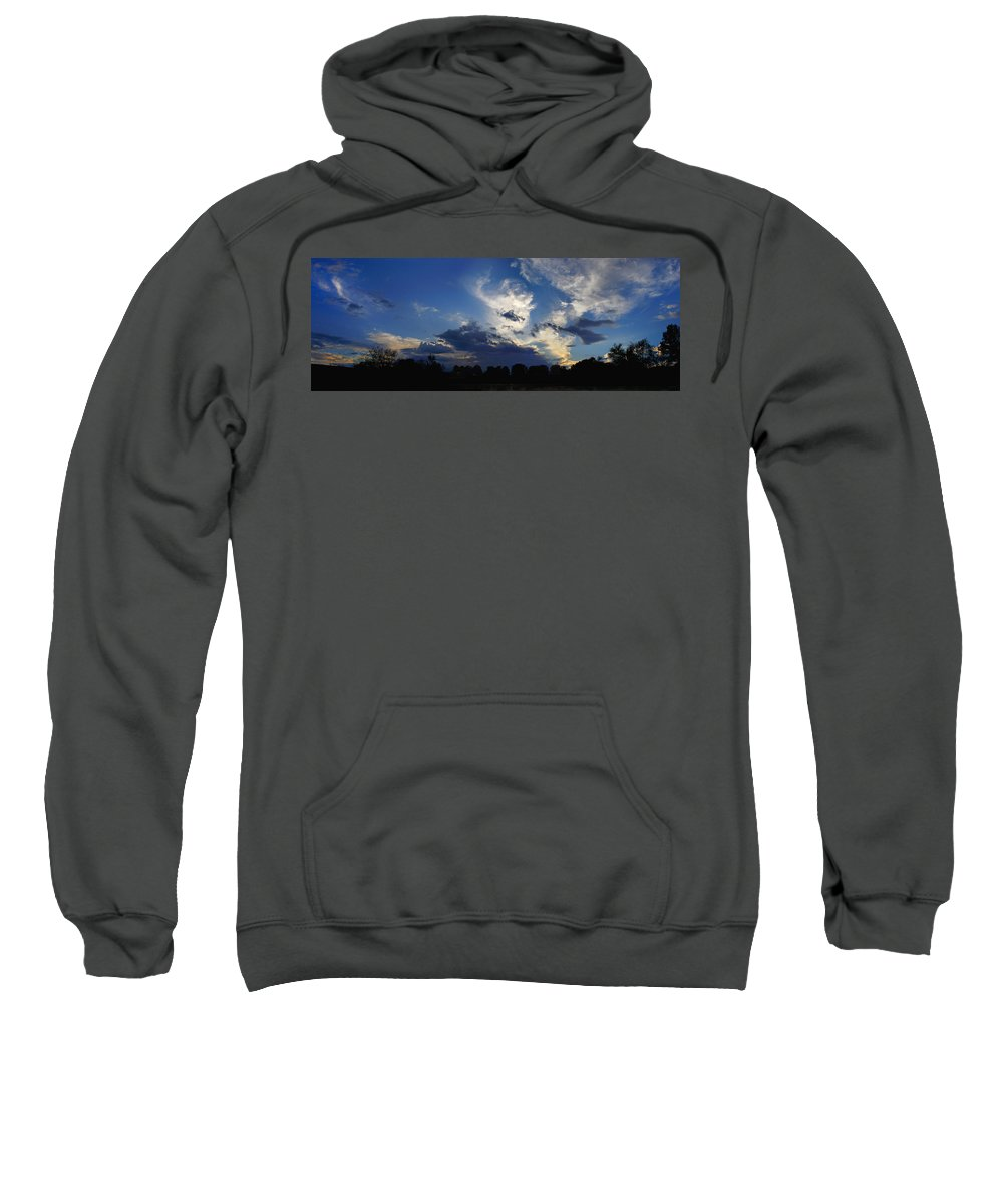 Landscape Sweatshirt featuring the photograph Evening At The Nature Center by Steve Karol