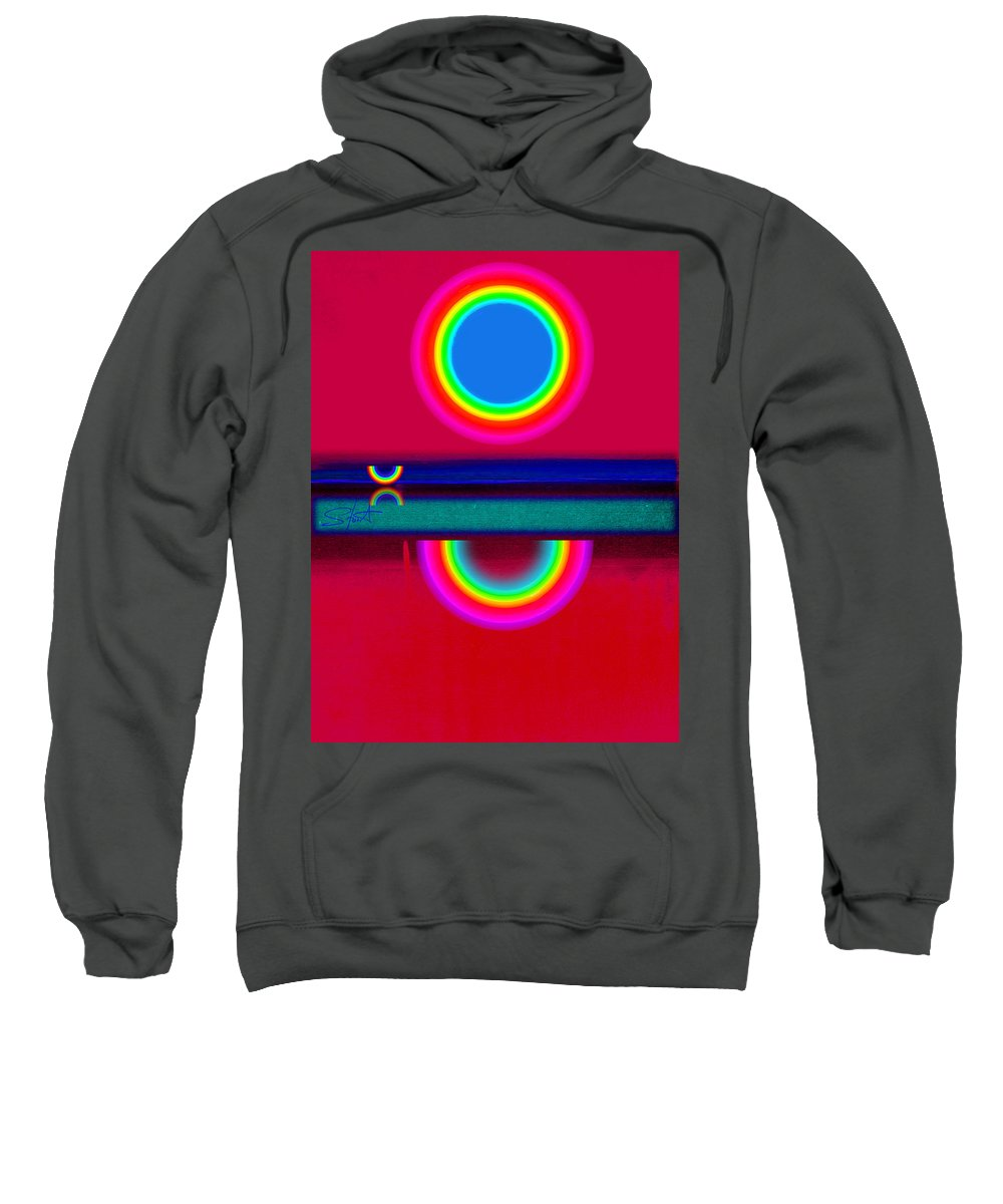 Reflections Sweatshirt featuring the painting Evening Heat by Charles Stuart