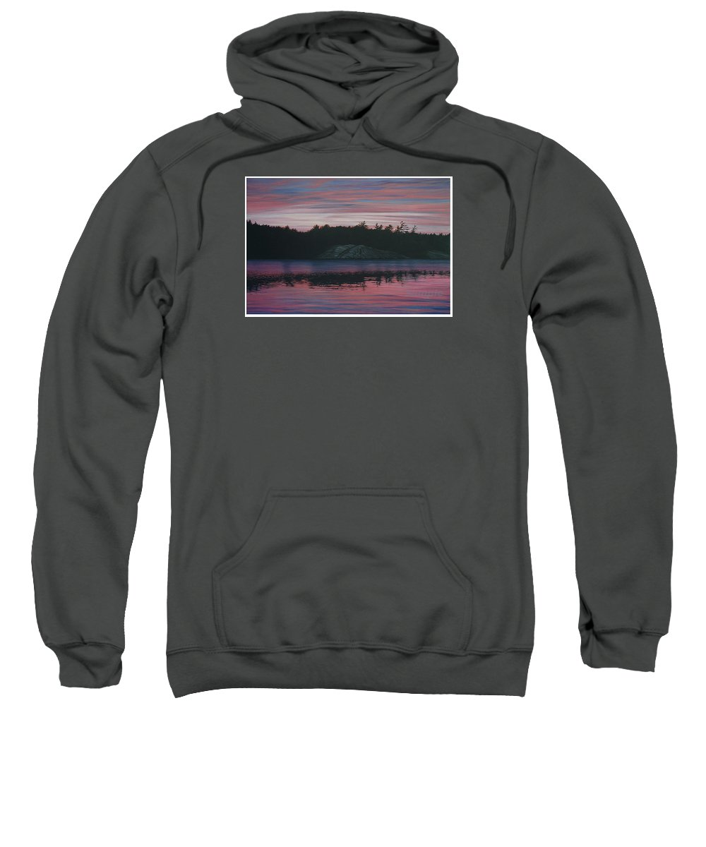 Landscape Sweatshirt featuring the painting Evening In La Cloche by Jan Lyons