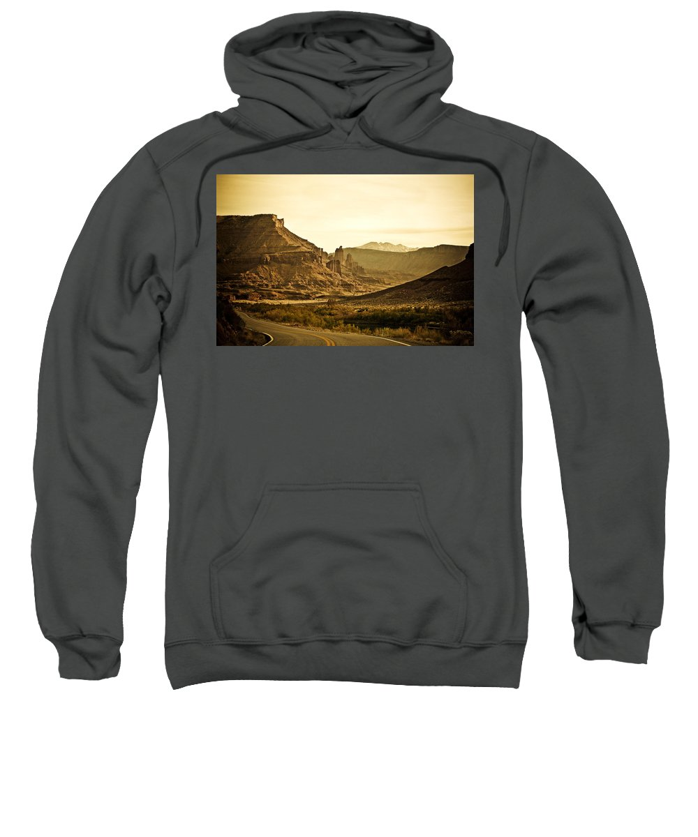 Americana Sweatshirt featuring the photograph Evening In The Canyon by Marilyn Hunt